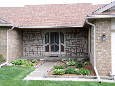 Commerce Township Stone Siding